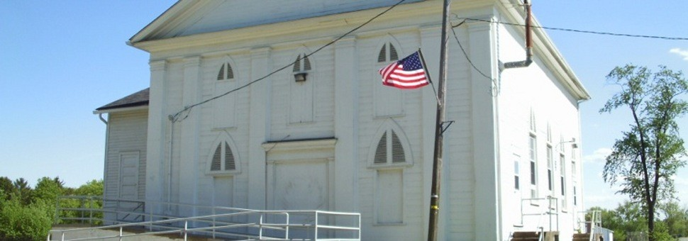 The Civic Center that was built in 1837. It has been used as a church as well as a  township school.